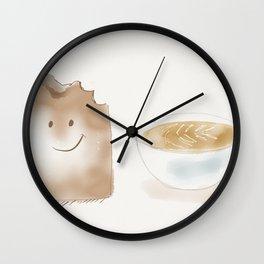 Breakfast happy toast Wall Clock
