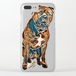 bullmastiff brindle big bull mastiff Clear iPhone Case