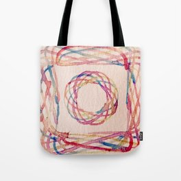 Spirograph watercolor print Tote Bag