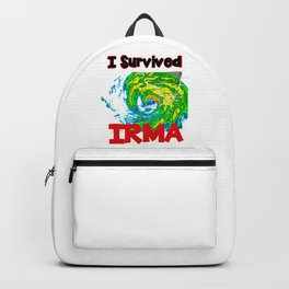I Survived Hurricane Irma Backpack