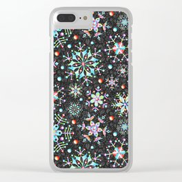 Snowflake Filigree Clear iPhone Case