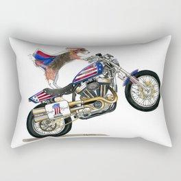 Beagle on Motorcycle Rectangular Pillow