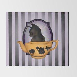 Teapot Cat Throw Blanket