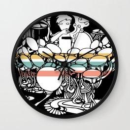 Smoking Drummer Wall Clock