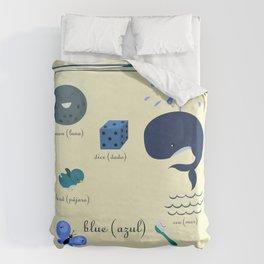 Colors: blue (Los colores: azul) Duvet Cover