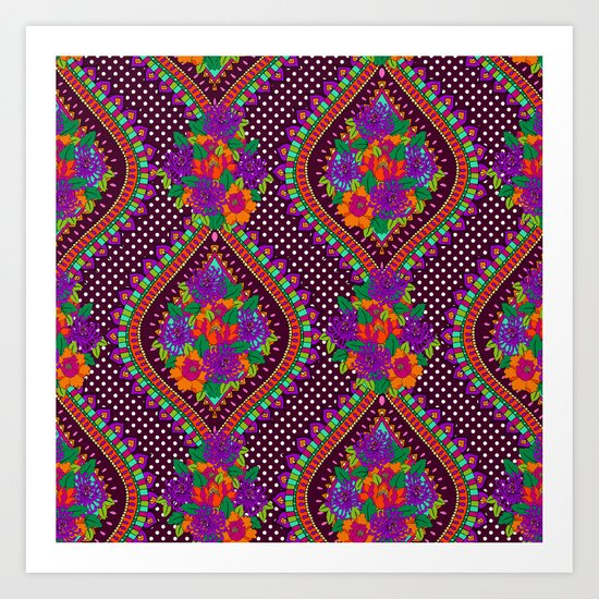 Ivy Purple Art Print