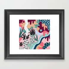 Pattern with plants Framed Art Print
