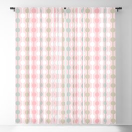 Geometric Multi Droplets Pattern - Summer Pastels - Pink Blue Green White Blackout Curtain