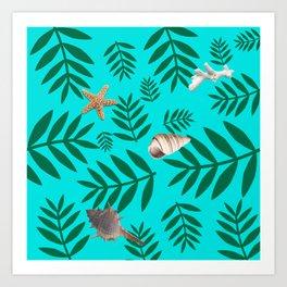 leaf coral Kunstdrucke