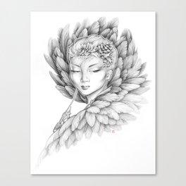 Winter Raven Canvas Print