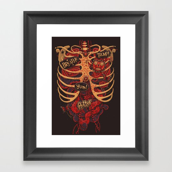Anatomical Study - Day of the Dead Style Framed Art Print