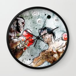 Boxing: Rocky Balboa vs Clubber Lang Wall Clock