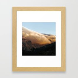Crowned in clouds Framed Art Print