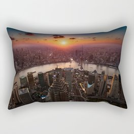Shanghai Sunset Rectangular Pillow