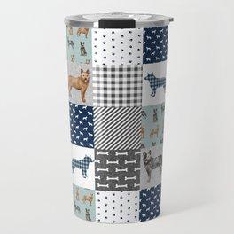 Australian Cattle Dog cheater quilt pattern dog lovers by pet friendly Travel Mug