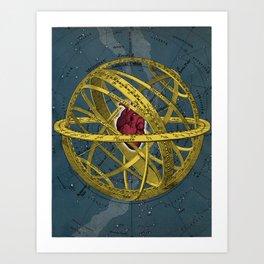 Heartcentrical sistem Art Print