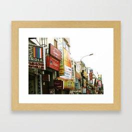 Indian shopping mall Framed Art Print