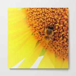 "SAVE THE BEE""S Metal Print"