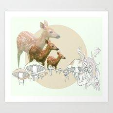 Deer, creatures Art Print