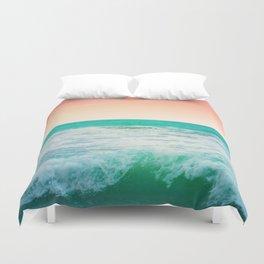 Aqua and Coral, 3 Duvet Cover