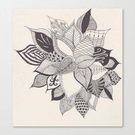zenTANGLE Plant Canvas Print