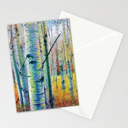 Aspen Trees in the Fall Stationery Cards