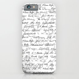 Literary Giants Pattern II iPhone Case