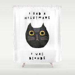 Blonde cat / poster, cat, art print, pictures, scandinavian, nursery, deco, family, art, animal, cat Shower Curtain