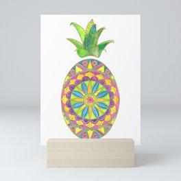 Pineapple Mandala Mini Art Print