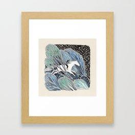 White Gallop Framed Art Print