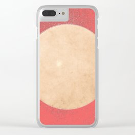 Imperial Coral - Moon Minimalism Clear iPhone Case