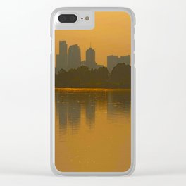 Come Sit With Me At Sloan Lake Downton Denver Colorado Clear iPhone Case