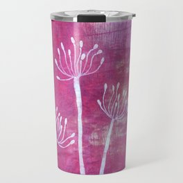 Alliums in Red Travel Mug
