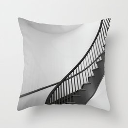 Spiral Stairwell going up Throw Pillow