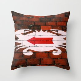 Crab Alley Throw Pillow