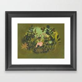 Mouse in the Grass Framed Art Print