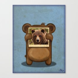 Real Bear Canvas Print