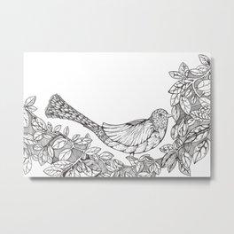 Tree Bird Metal Print