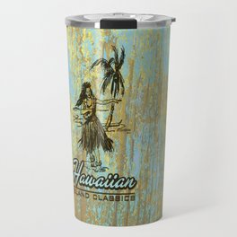 Hawaiian Surf Shack and Hula Girl Designs Travel Mug