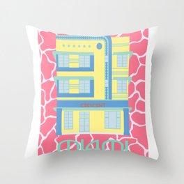 Miami Landmarks - Crescent Throw Pillow