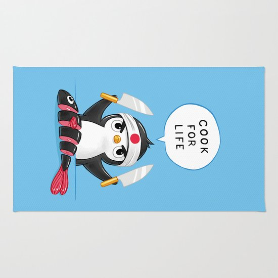 Penguin Chef Rug