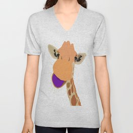 What's Up, Giraffe? Unisex V-Neck