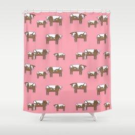 Cow farm minimal pattern animals nursery kids cattle design gifts Shower Curtain