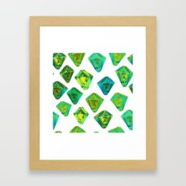 Green gemstone pattern. Framed Art Print