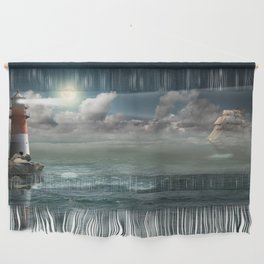 Lighthouse Under Back Light Wall Hanging