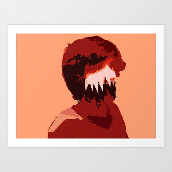 Adam Monster Face Art Print