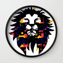 Abstract African Lion Wall Clock