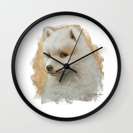 Baby Samoyed Wall Clock