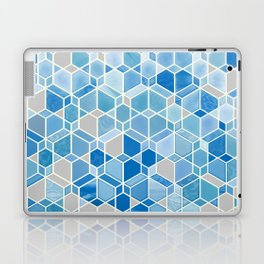 Cubes & Diamonds in Blue & Grey  Laptop & iPad Skin