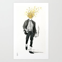 an extremely attractive swarm of bees Art Print